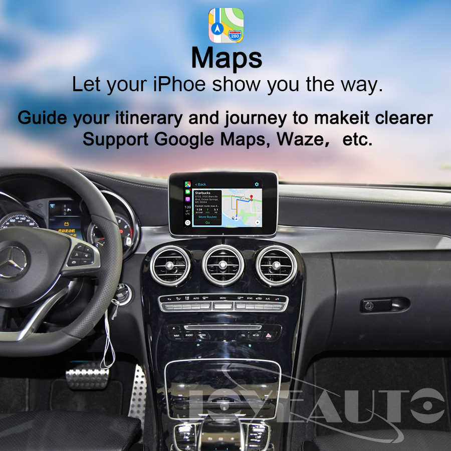 Joyeauto беспроводной Apple Carplay автомобильный игровой Android авто зеркало модифицированное для Mercedes A B C E G CLA gla GLC S Class 15-19 NTG5 W205