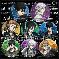 8 pcs/ensemble 58 MM Gros Passe-Psycho Kogami Shinya Tsunemori Akane Makishima Shogo Ginoza Nobuchika Anime Broche Badge Collection