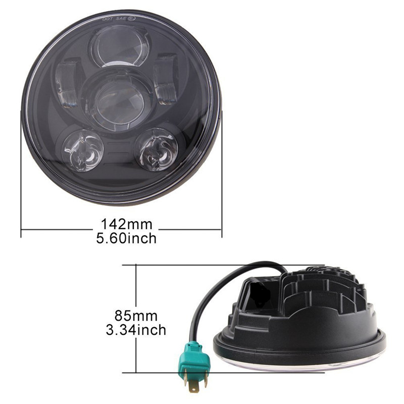 5.75inch  45W Round LED Headlight Bulbs Projector Daymaker with  Beam.5jpg