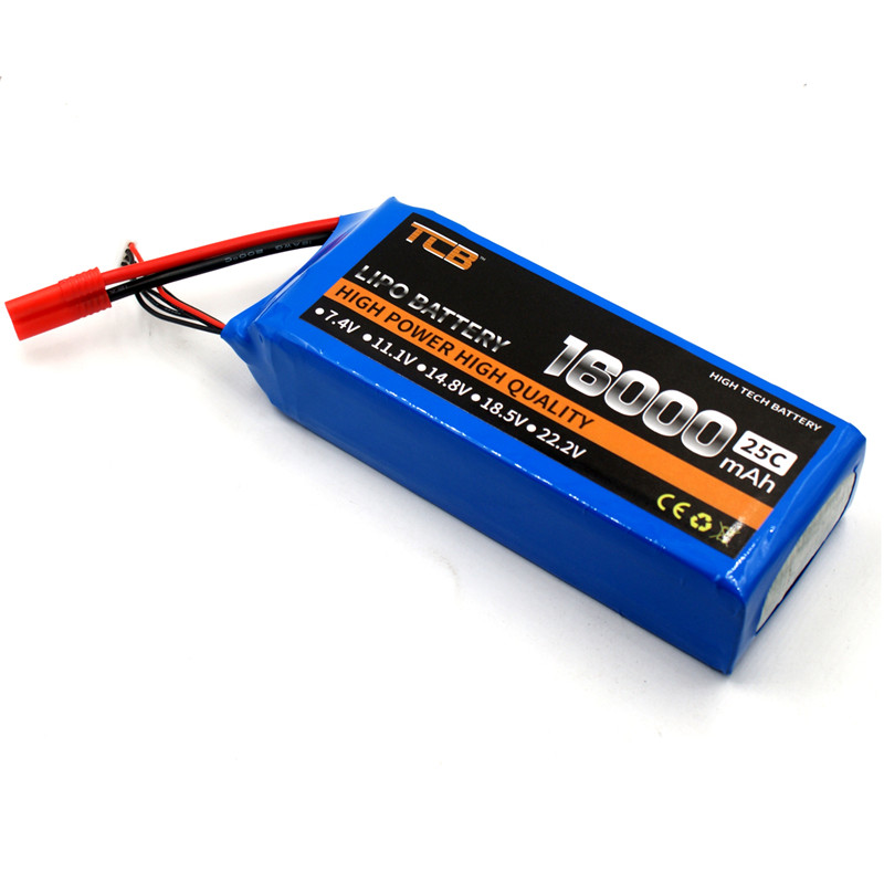 TCB RC LiPo Battery 11.1V 16000mAh 25C 3S for RC Airplane Car Dron Quadrotor Boat Li-ion batteria 3S 1s 2s 3s 4s 5s 6s 7s 8s lipo battery balance connector for rc model battery esc