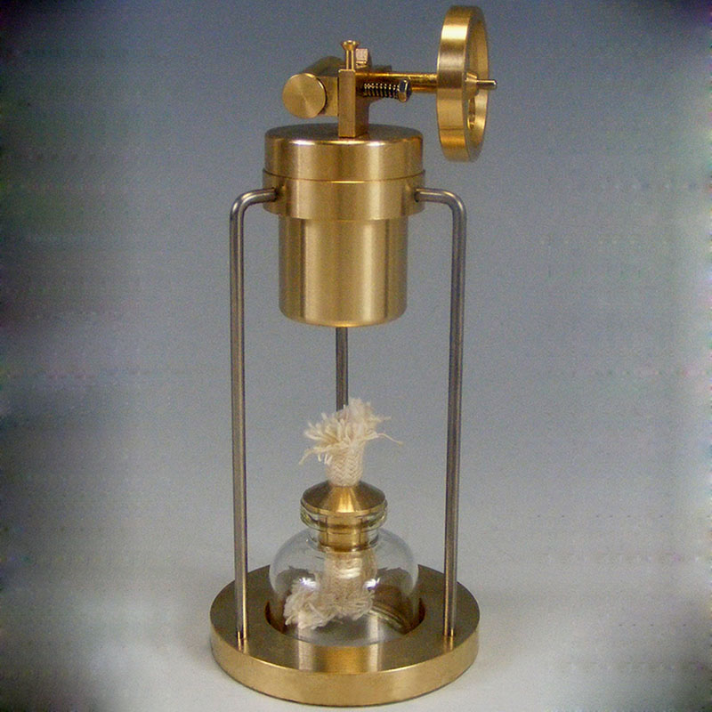 Single cylinder steam engine model kit with alcohol lamp birthday gift steam engine