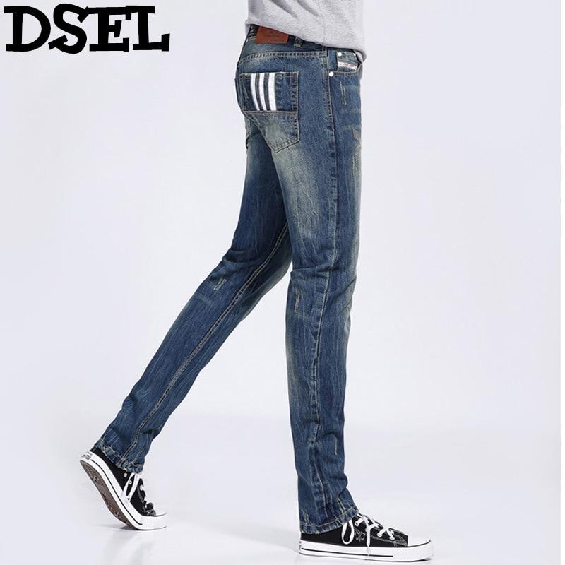 Dsel Designer Men Jeans Slim Fit Straight Denim Thin Stretch Mens Skinny Biker  Jeans Casual  Pants Hip Hop Denim Trousers thin stretch jeans ripped denim trousers slim skinny black jeans men new famous brand biker jeans elastic mens jeans l702