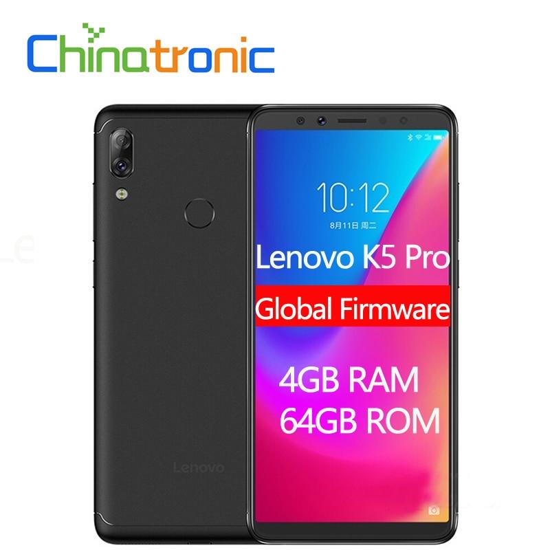 "Globale Lenovo K5 Pro L38041 4 Gb 64 Gb Zui 4g Lte 5,99 ""zoll Handy Snapdragon Octa -core Dual Zurück Kamera Fingerprint"