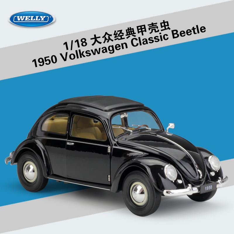 все цены на 1:18 Scale Welly High Simulation Metal Car Classic Volkswagen Beetle Diecast Toy Alloy Model Toy Cars For Kids Gifts Collection онлайн