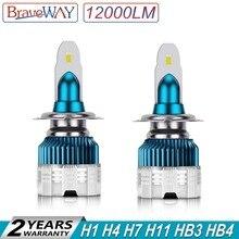 BraveWay 2019 Новинка H11 светодиодный фар диодные лампы для автомобилей H1 H4 H7 светодиодный лампы H8 HB3 HB4 Противотуманные фары все для автомобиля Automotivo