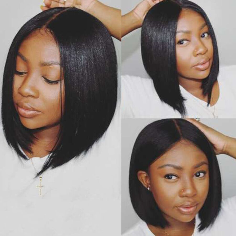Short Bob Lace Front Human Hair Wigs Pre Plucked Gossip Short Human Hair Bob Wigs For Black Women Burmese Remy Hair Lace Wigs