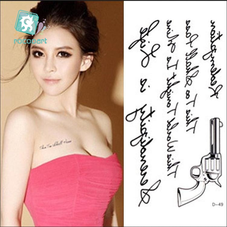 Rocooart RC2239 Body Art Water Transfer Fake Tattoo Sticker Temporary Tattoo Sticker Blue Black Wind Blown Feathers Taty Tatoo 21