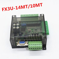 High speed FX1N FX2N FX3U 14MT/10MT PLC industrial control board 6AD 2DA with shell and RS485 RTC Real time clock