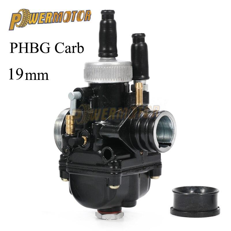 Carburateur de moto de course noir carburateur Carb 19mm Dellorto réplique pour moteur de moto PHBG Yamaha KTM Puch Zuma BWS100