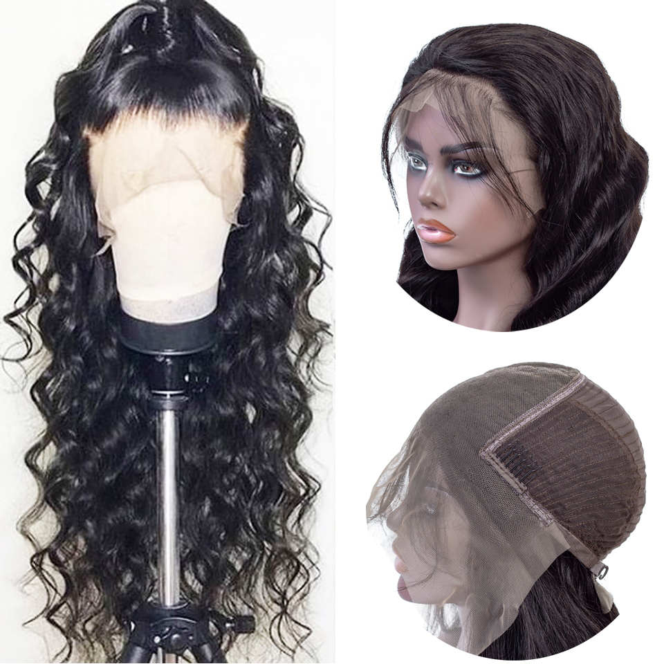 13X6 Deep Part Lace Front Human Hair Wigs Pre Plucked With Baby Hair Remy Natural Brazilian