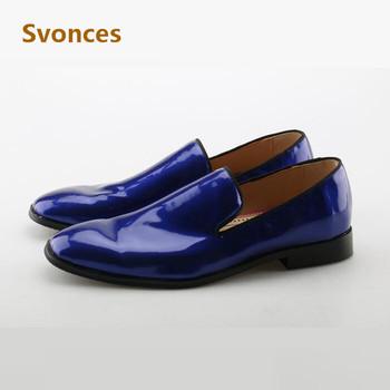 Moda mężczyzna buty w stylu casual klasyczny ciemny niebieski niskie obcasy projekt buty wygodne Slip-on mokasyny męskie mieszkania marka Zapatillas Hombre tanie i dobre opinie Dla dorosłych Przypadkowi buty Man Casual Sneakers Stałe Gumowe Pasuje prawda na wymiar weź swój normalny rozmiar Svonces