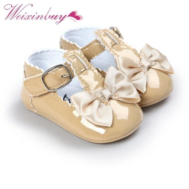 Noworodek dziewczynki buty klamra ze skóry pu buciki czerwony czarny różowy biały niebieski