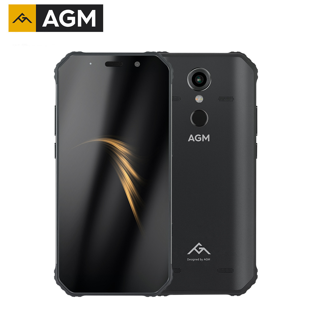 "original AGM A9 Rugged Phone 4GB 64GB IP68 Waterproof 5400mAh 5.99"" Android 8.1 Snapdragon 450 Octa Core 4G OTG NFC Mobile Phone"