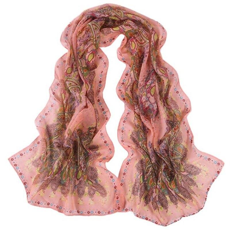 Women Fashion Pretty Long Soft Chiffon Scarf Wrap Shawl Stole women's scarves handkerchief hijab scarf 40MA05