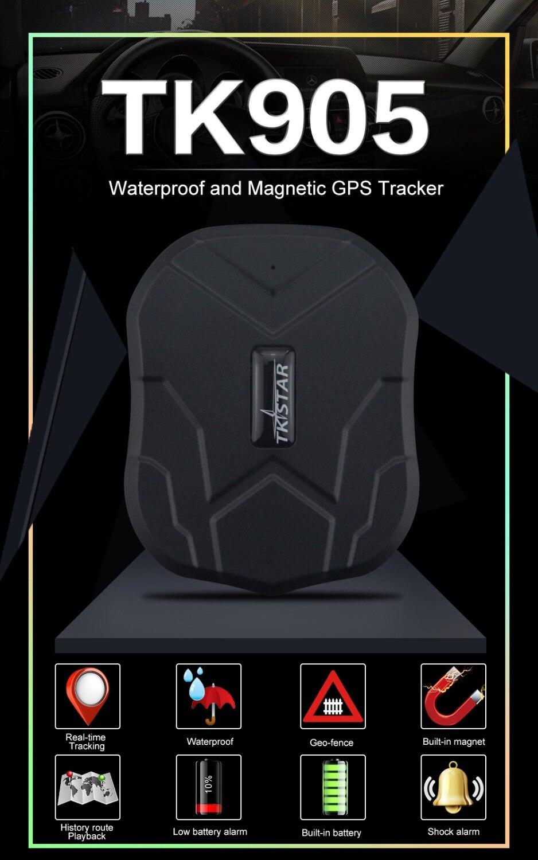 TKSTAR GPS Tracker Car TK905 5000mAh 90 Days Standby 2G Vehicle Tracker GPS Locator Waterproof Magnet