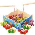 Crianças Brinquedos Educativos Crianças 3D crianças brinquedos de pesca Peixe de madeira Jogo De Pesca brinquedos juguetes W186