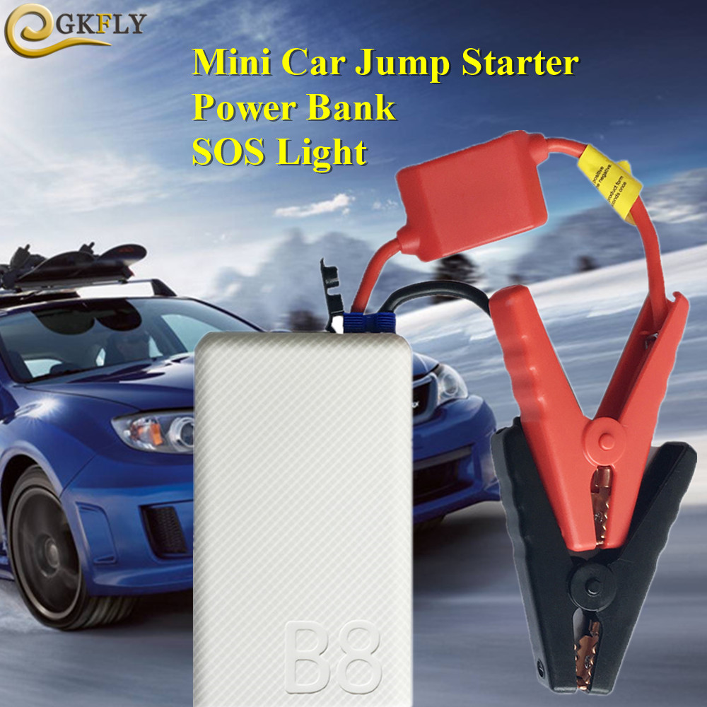 Mini Portable 10800mAh Car Jump Starter Mobile Phone Power Bank 12V 400A Starting Device Car Charger For Car Battery Booster LED