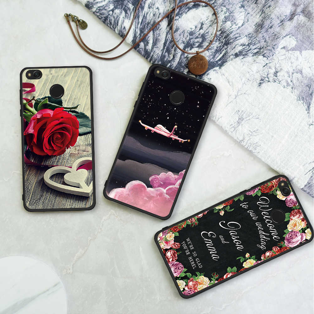 Motjerna étui de téléphone pour xiaomi mi A1 mi 5X couverture arrière motif souple TPU étui de téléphone pour xiaomi rouge mi 5A 4A 5 Plus Note4X Note4 Pro