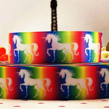hot deal buy the 38mm cartoon animal pony satin print ribbon hair accessories 10 yard hair bow diy bow packing with clothing accessories