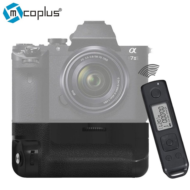 Mcoplus BG-A7II Pro Built-in 2.4g Wireless Control Battery Grip for Sony A7 II A7II Camera as Sony VG-C2EM Meike MK-A7RII meike mk 760d pro built in 2 4g wireless control battery grip suit for canon 750d 760d as bg e18