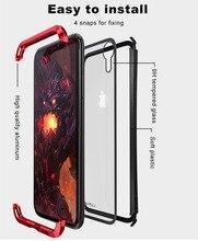 LUPHIE Cassa di Alluminio Del Respingente Per il iphone X XS Max XR XS Duro di Lusso del Metallo Cornice Per il iphone 6 6 S temperato backi Lato antiurto