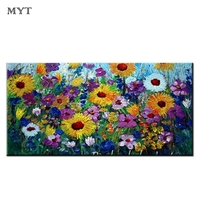 Sunflower Painting Abstract Hand Painted Home Wall Decor Oil Painting Free Shipping Modern Wall Art Canvas No Frame Oil Painting