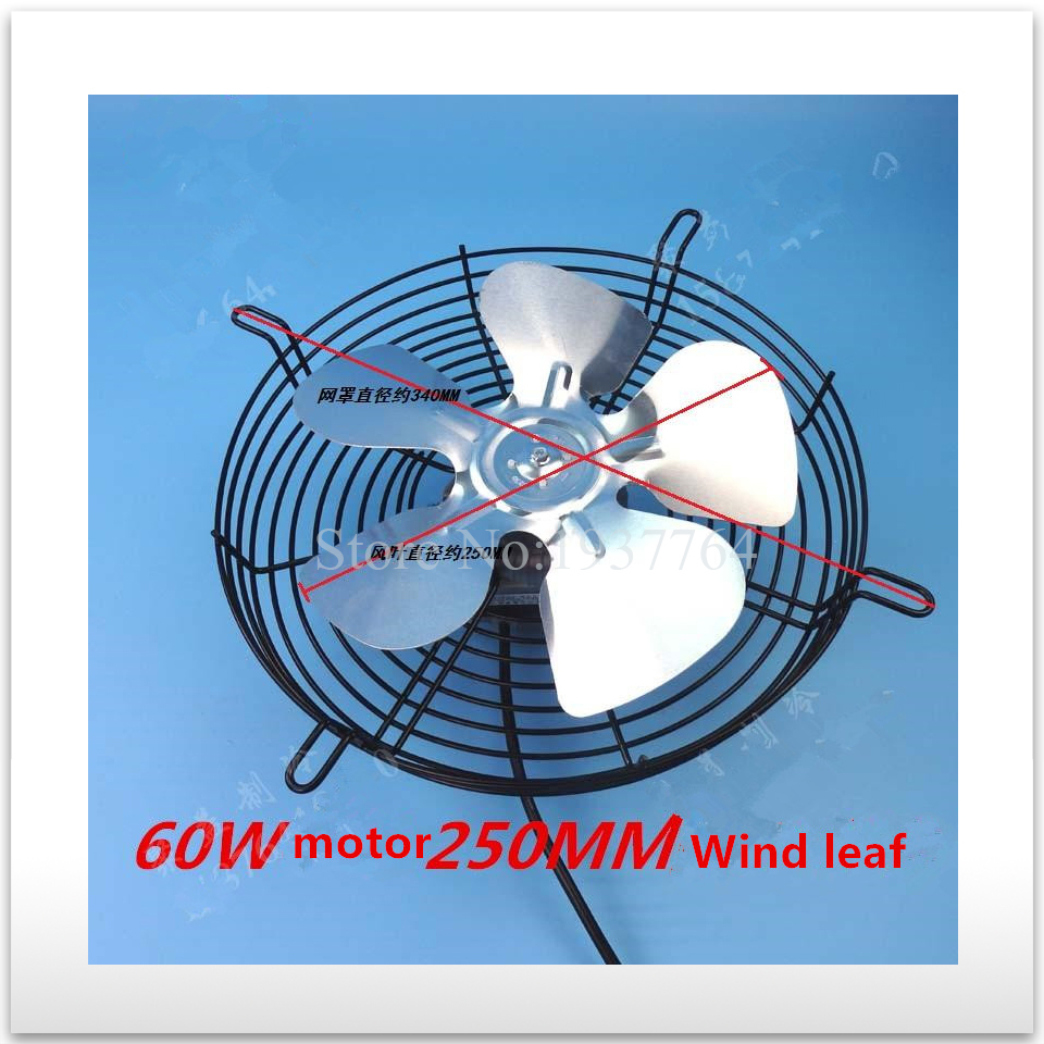 цена на 100% new for good working High-quality for 60W 220V Refrigerator motor freezer motor + 25CM aluminum Fan blade