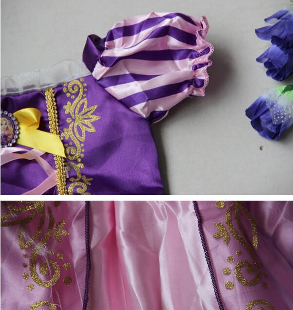 DB23655 Children Girl princess sofia dress-10