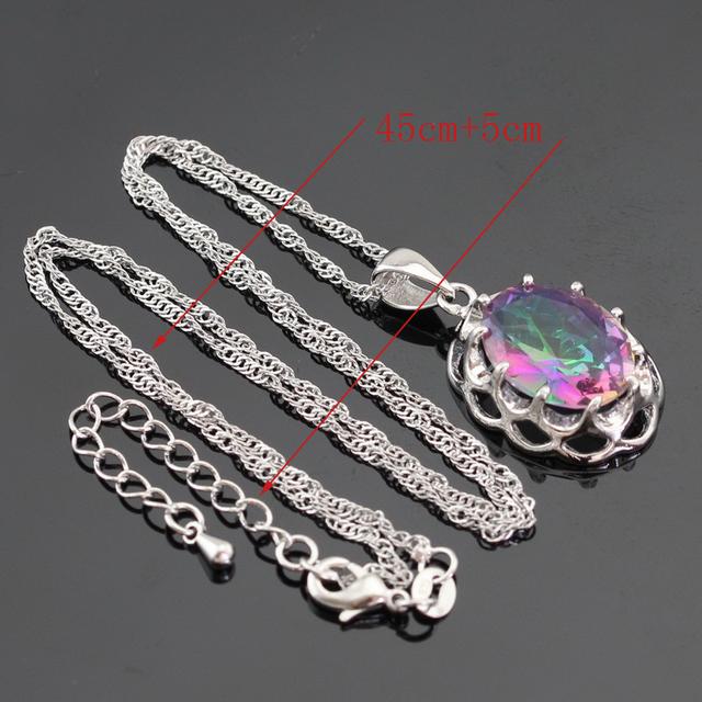 Multicolor Rainbow Topaz Jewelry Set
