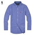 spring Brand camisa masculina Men Clothes Slim Fit Men Long Sleeve KaqpLa Shirt Men Plaid 100% Cotton Casual Men Shirt Social