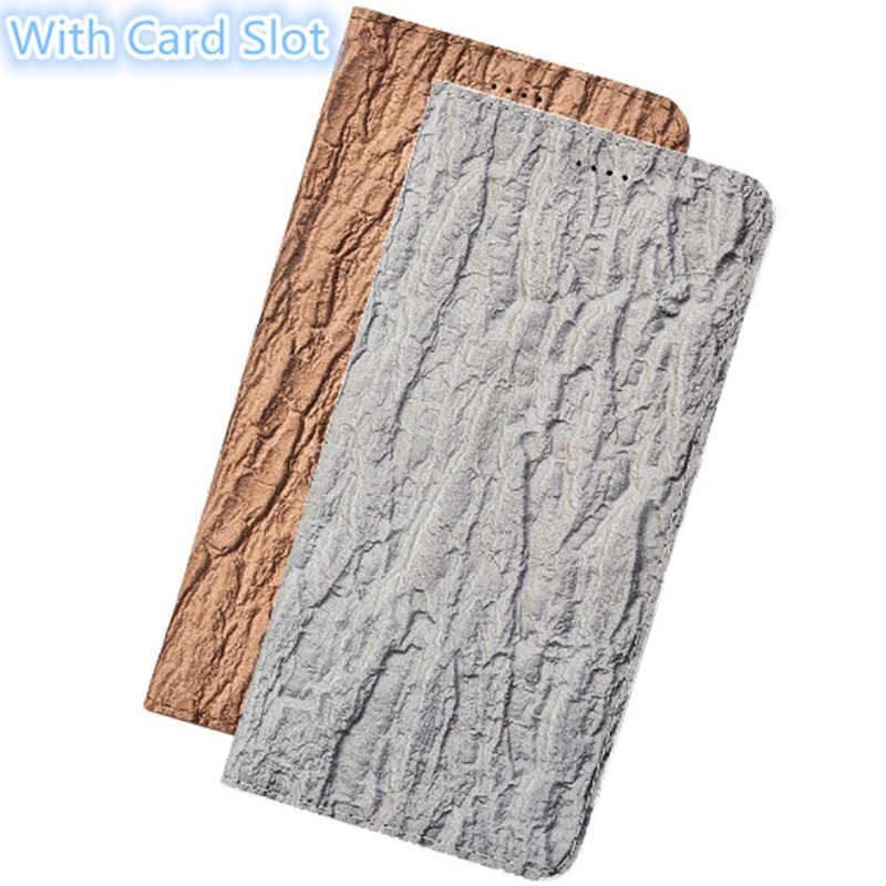 CH06 с узором древесной коры из натуральной кожи Магнитный чехол для телефона huawei