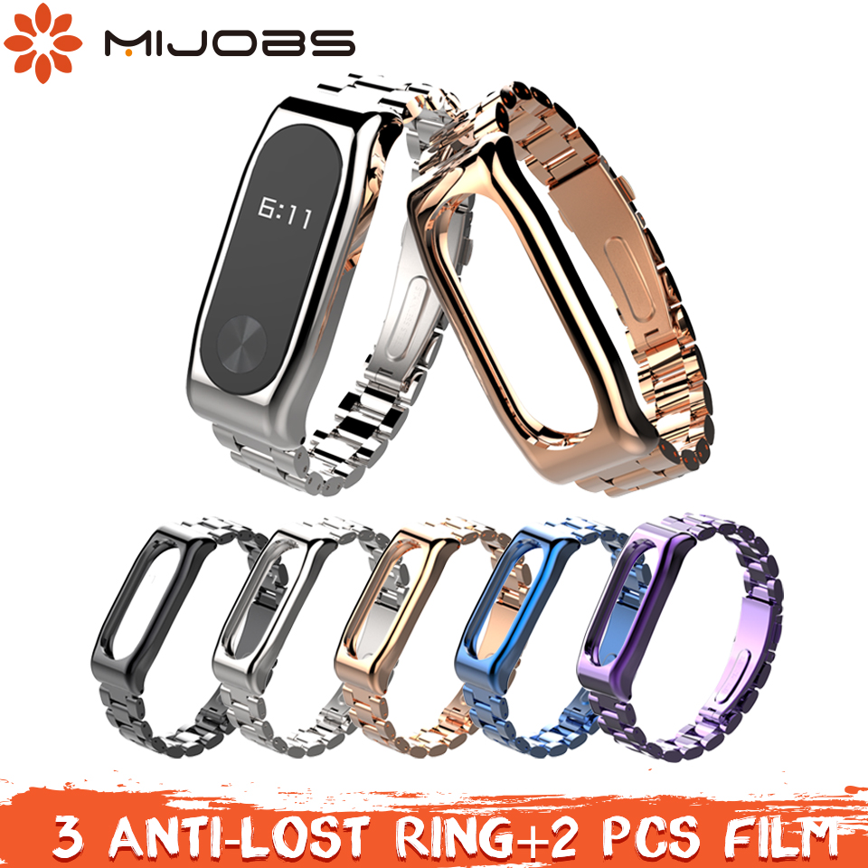 Mijobs Mi Band 2 Strap Metal Wrist Screwless Stainless Steel Bracelet Miband 2 Strap Wristbands for Xiaomi Mi Band 2 BraceletMijobs Mi Band 2 Strap Metal Wrist Screwless Stainless Steel Bracelet Miband 2 Strap Wristbands for Xiaomi Mi Band 2 Bracelet