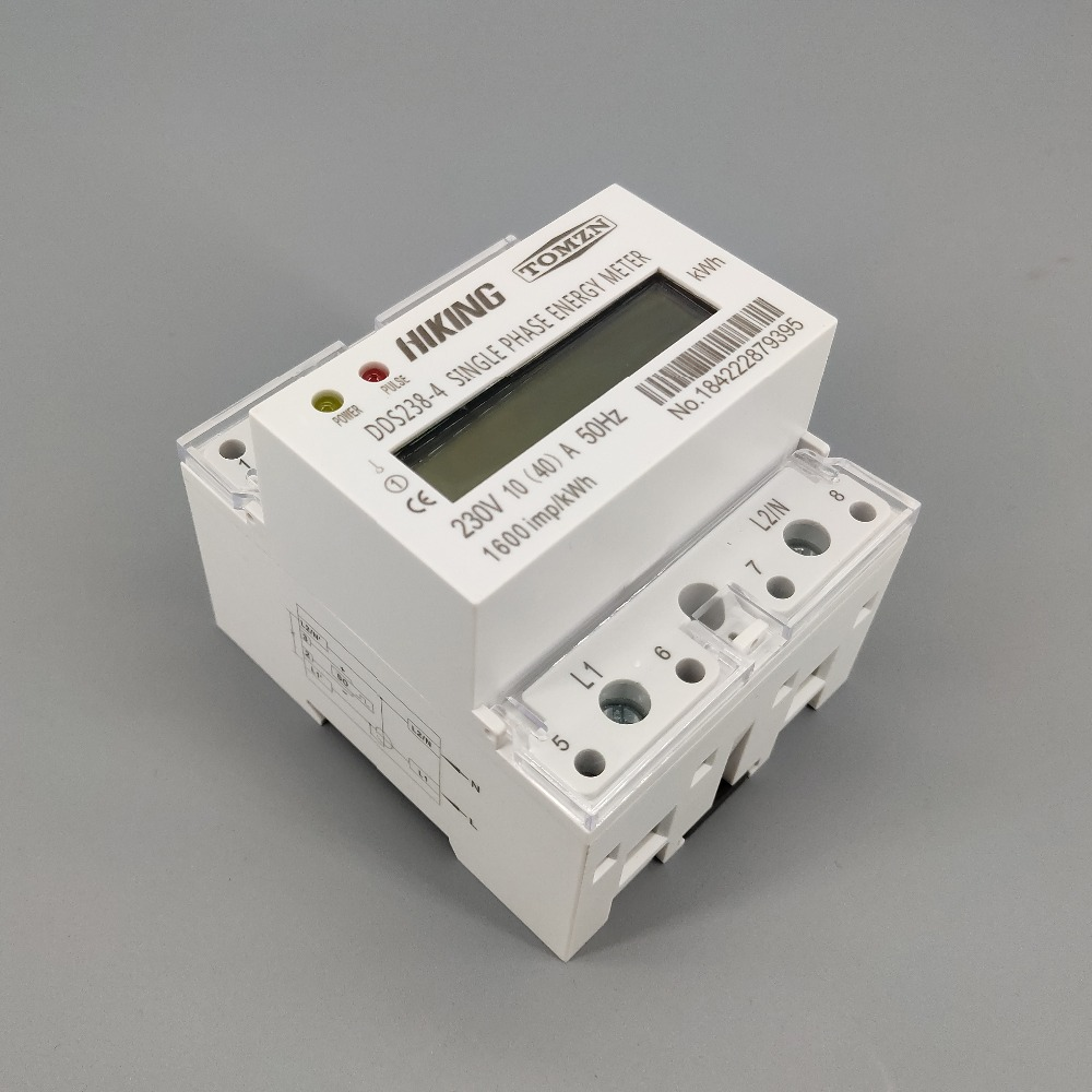 Digital LCD Single-phase DIN-Rail Electric Meter 10-40A Electronic KWh Meter BG