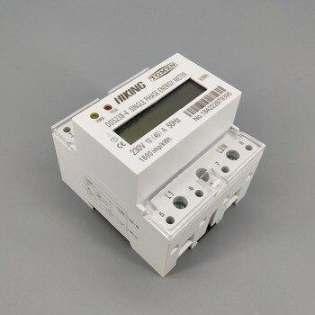 10 (40) A 230V 50HZ carril Din monofásico KWH vatios hora din medidor de energía LCD