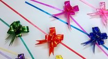 Size Middle 15*260mm Pull Bows Ribbons Gift Wrapping Wedding Party Decoration Pullbows multi color option Wholesale(China)