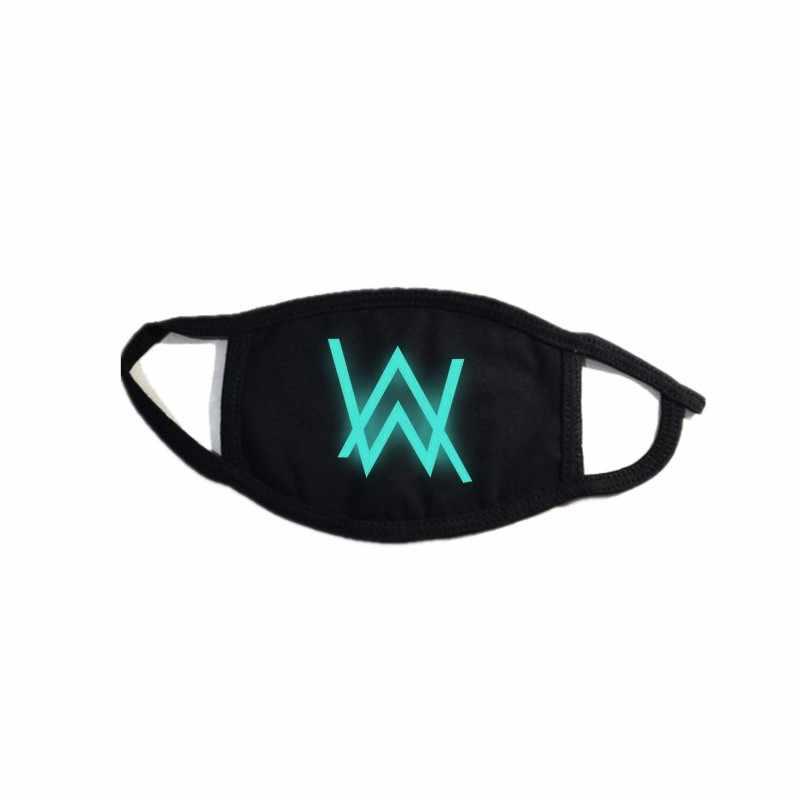 KDA K/DA Akali Alan Walker Marshmallow косплей маска для женщин и мужчин подростков хлопок ночная светящаяся маска полупокрытое лицо косплей реквизит Новинка