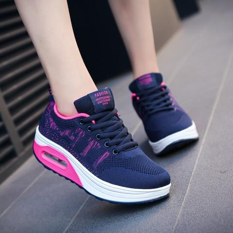 Women Running Shoes Air Black Dark Blue Women Sport Shoes Spring Summer Female Designer Sneakers Lightweight Tracking Shoes Karachi