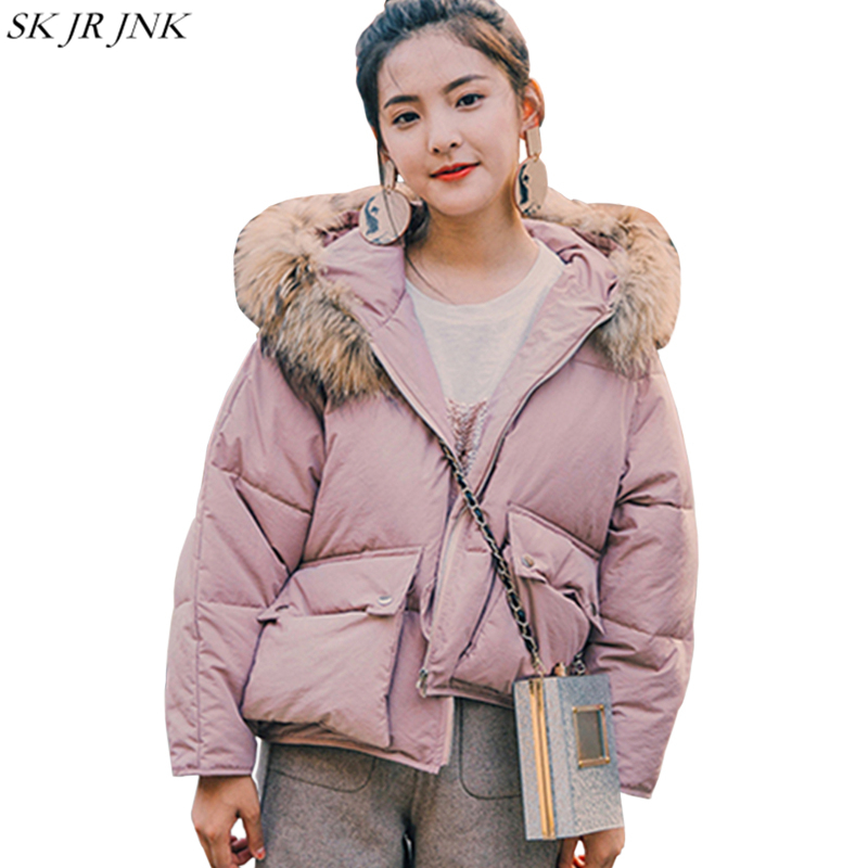 Women Parka 2017 Winter New Fashion Hooded Long Sleeve Thicken Warm Short Female Wadded Jacket Casual Quality Lady Jacket HCY76 2015 new mori girl wave raglan hooded loose sleeve medium long wadded jacket female