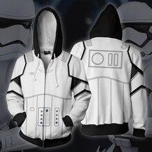 3D Print Star Wars Imperial Stormtrooper Darth Vader Movie Sweatshirt Hoodie Coat Jacket Cosplay Costume Men Woman Top New zshop star wars backpack great movie theme shoulder bag imperial stormtrooper the storm troops daypack
