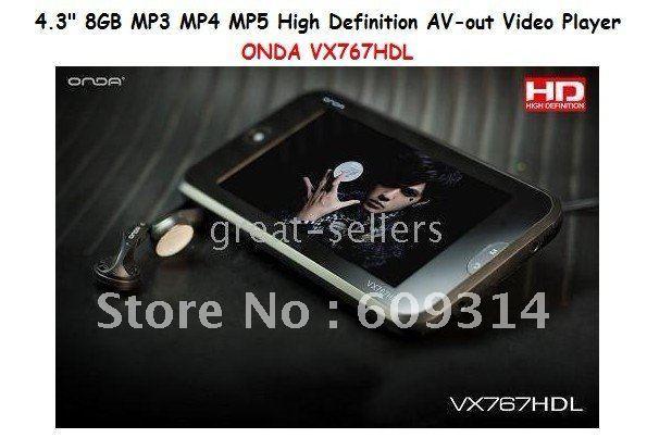 """FREE SHIPPING MP5 video Player ONDA VX575 AV HDMI HD 8GB 5"""" MP3 MP4"""