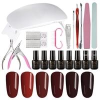 MIZHSE UV Gel Nail Polish Kit Full Manicure Set Gel Polish Nail Art Kit With UV LED Lamp Electric Nail Drill Machine Nail Tools