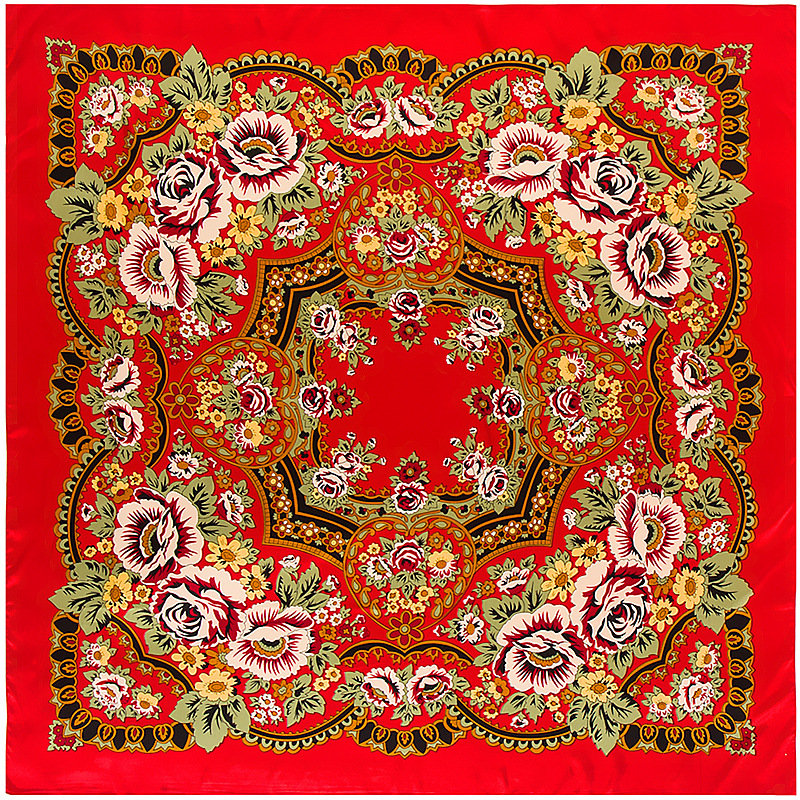 Twill Silk   Scarf   Square   Scarf   Bandana Floral Print   Scarf   for Women Shawls Luxury Brand Silk   Scarves     Wrap   Kerchief Femal Foulard