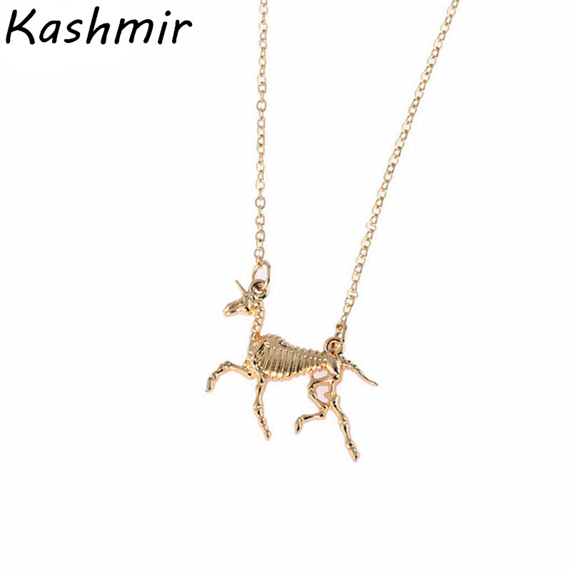 Delicate unicorn necklace Fashion necklace restoring ancient ways of animal black metal alloy necklace wholesale