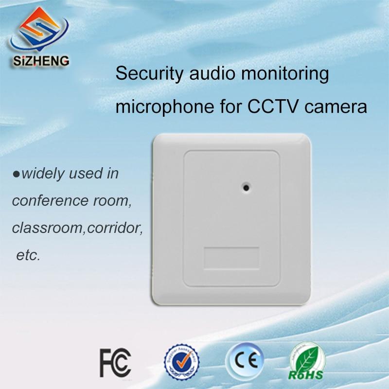 SIZHENG SIZ-155 Parede incorporado CCTV microfone de áudio de som acessórios de escuta para vigilância por vídeo