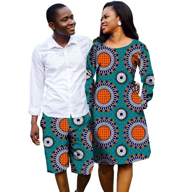Fashion Couples Dress Africa Clothes Printed Dresses And Men Shorts Party  African Women Clothes Ladies Costume Customized 56da73a6e