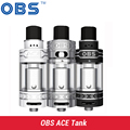 Original OBS ACE Tank 4.5ml with Ceramic 0.85 Coil With RBA Coil vaporizer Atomizer for 510 Thread Battery  e cigarette box mod