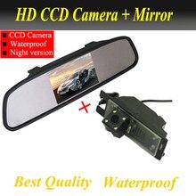 CCD камера Заднего Вида Для Hyundai IX35 Tucson 2009 2010 2011 Hyundai Резервного обратном камера + 4.3 дюймовый автомобильный зеркало Завод продвижение