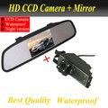 CCD câmera Traseira Para Hyundai IX35 Tucson 2009 2010 2011 Hyundai câmera reversa de Backup + 4.3 polegadas espelho do carro de Fábrica promoção