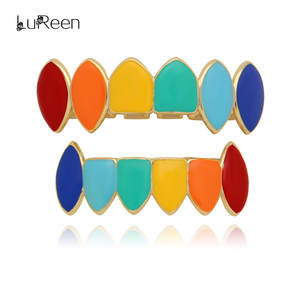 LuReen Hip Hop Gold Grillz Grills Teeth Body Jewelry