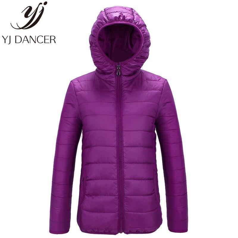 YJ DANCER 2018 Women Ultra Light   Down   Jacket Hooded Winter Duck   Down   Jackets Women Slim Long Sleeve Parka Zipper   Coats   YZH526